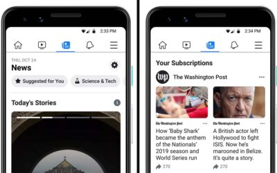 Facebook lanceert Facebook News feature in de VS